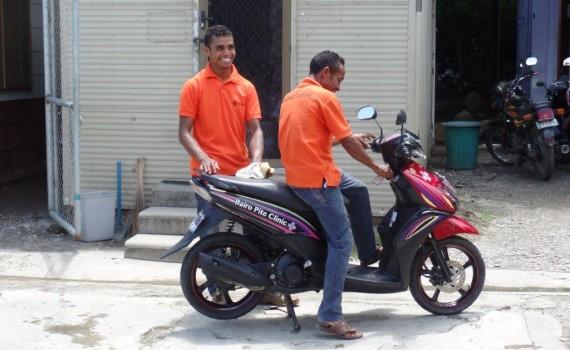 Motorbikes from Bairo Pite Clinic