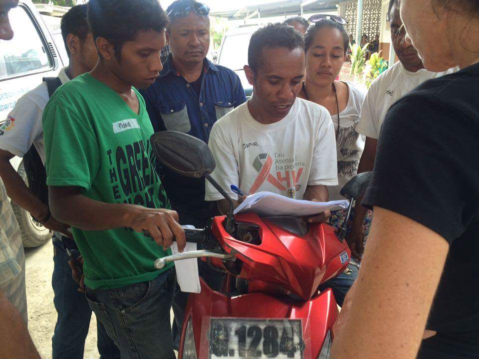 Completing the MotoAid Safety Check